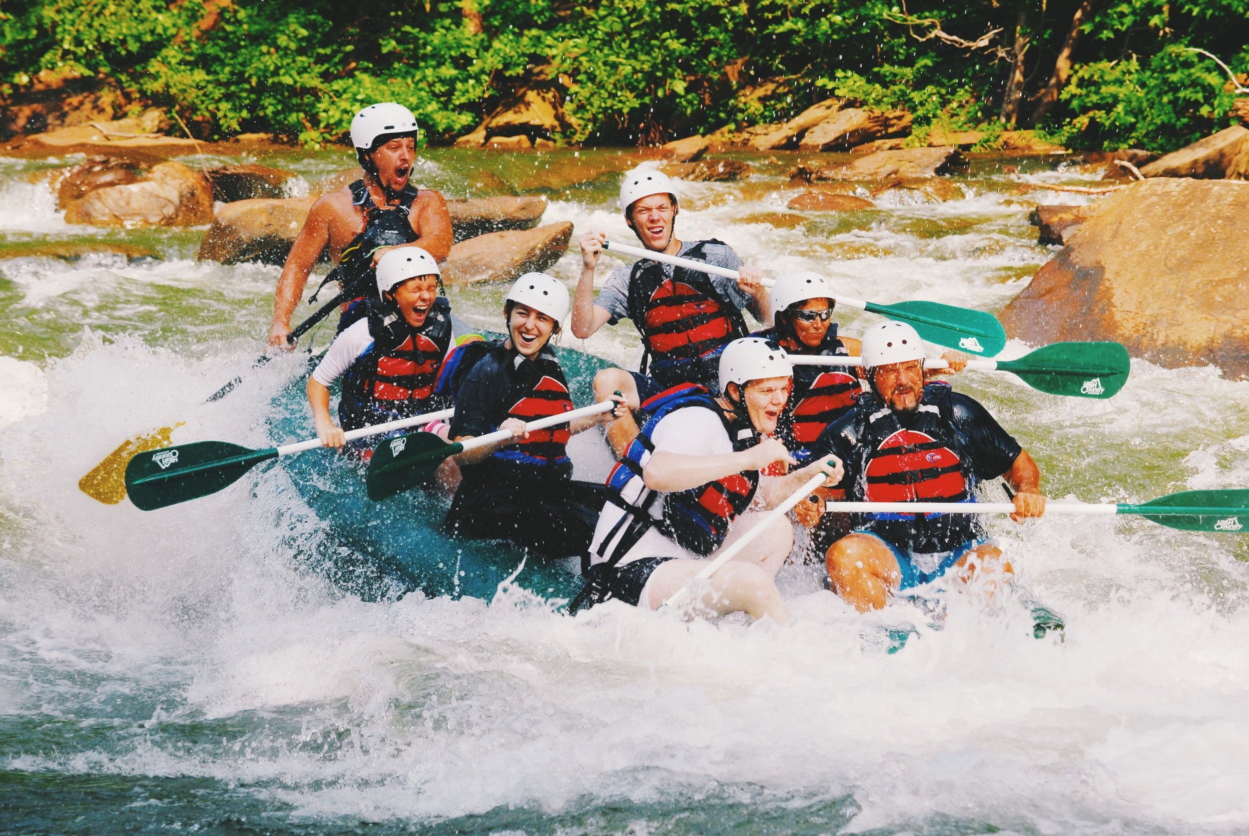went rafting on the Ocoee River...