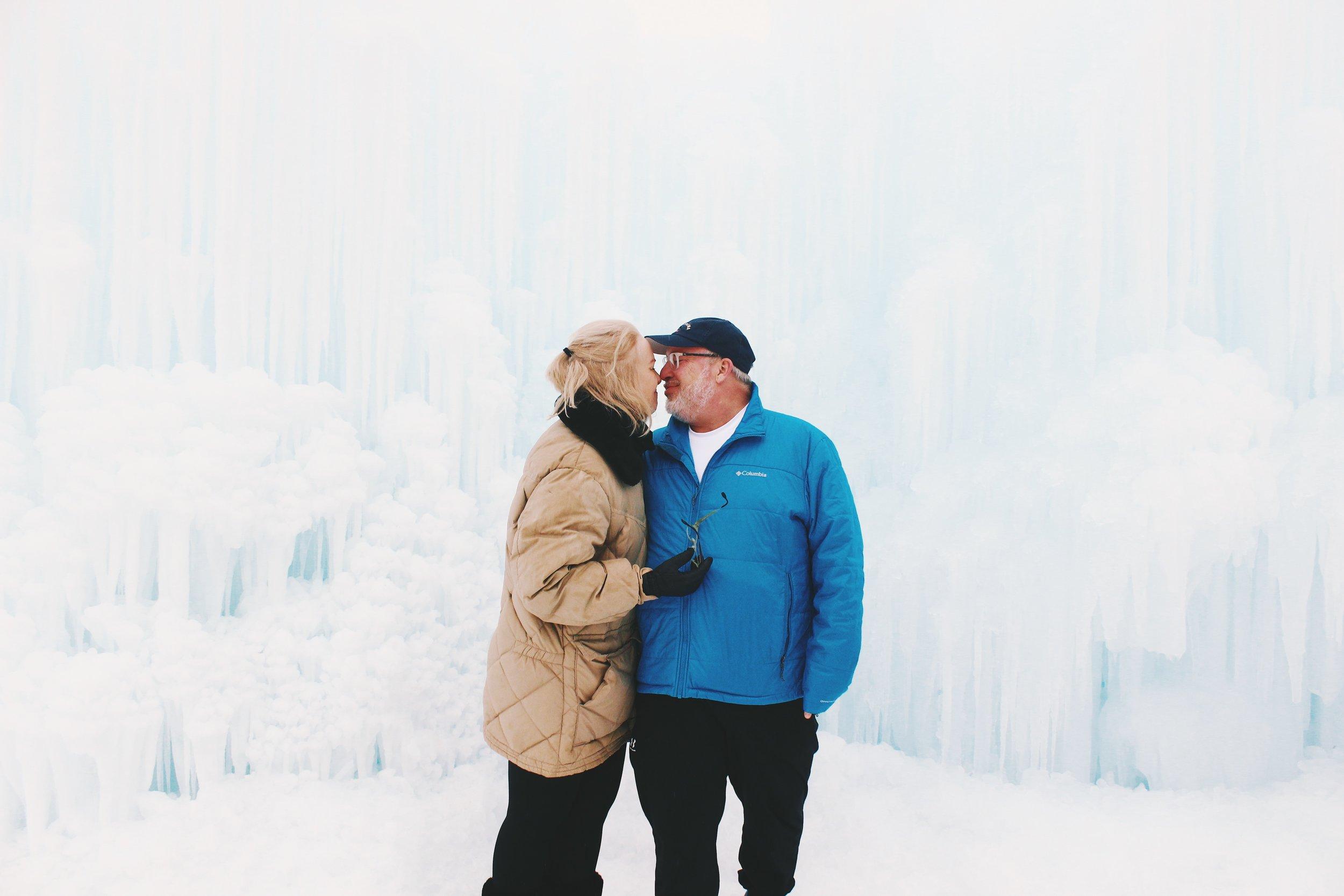 My dad and stepmom Marian - candid