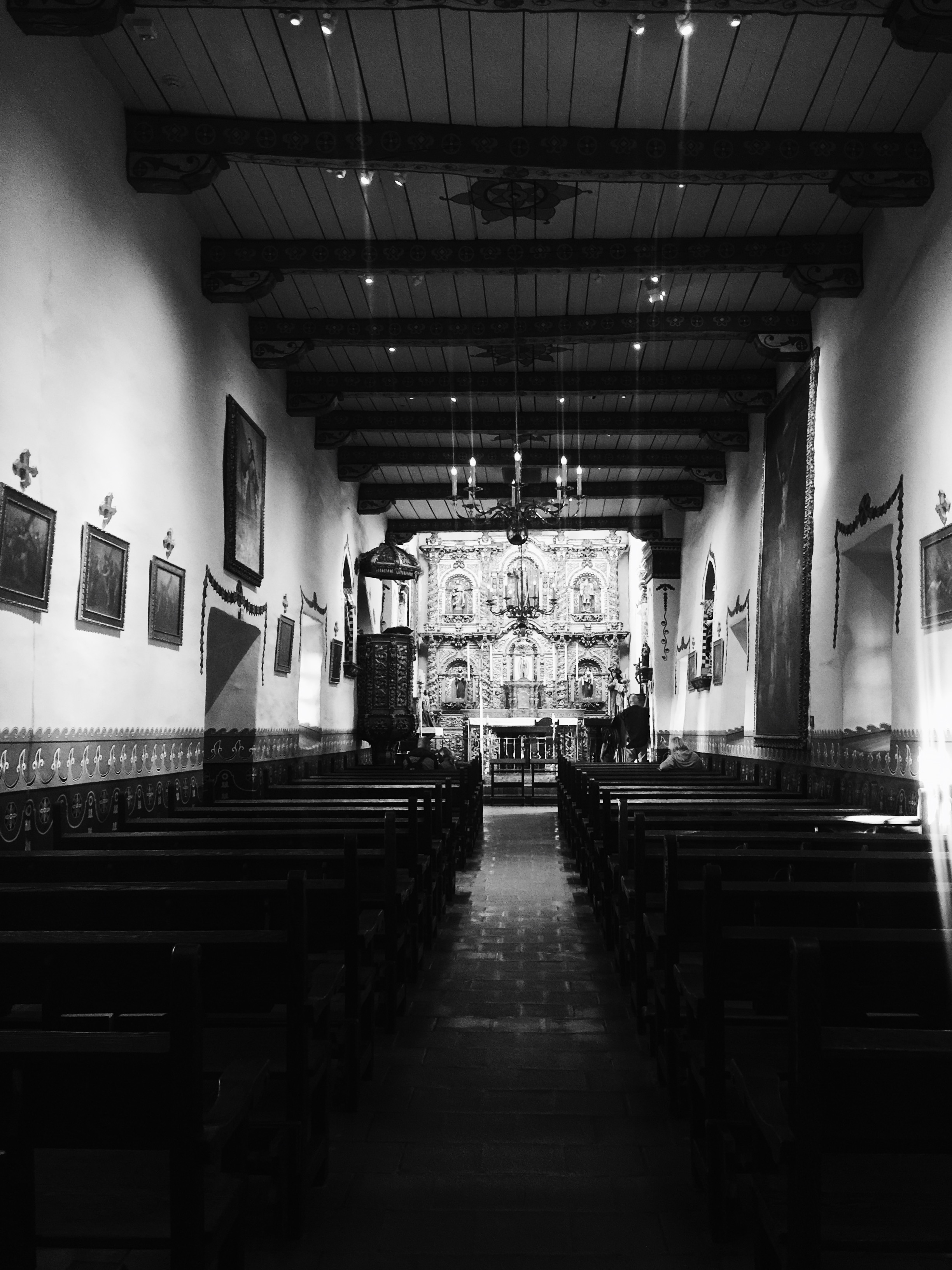San Juan Capistrano has the distinction of being home to the oldest building in California still in use: this chapel, called Serra's Chapel, was built in 1782.