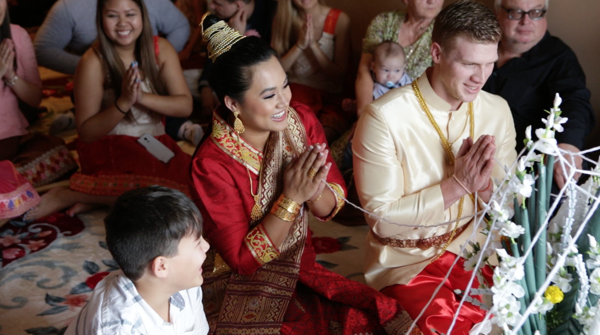 Bryan and Lyna's Laos wedding Ceremony  (click to see their video).