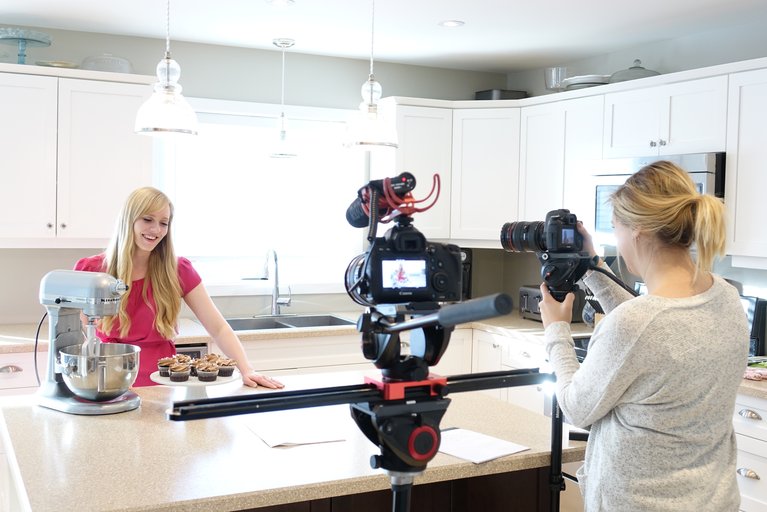 Prairie Film Co. on a recent brand video shoot for food blogger, the Recipe Rebel.