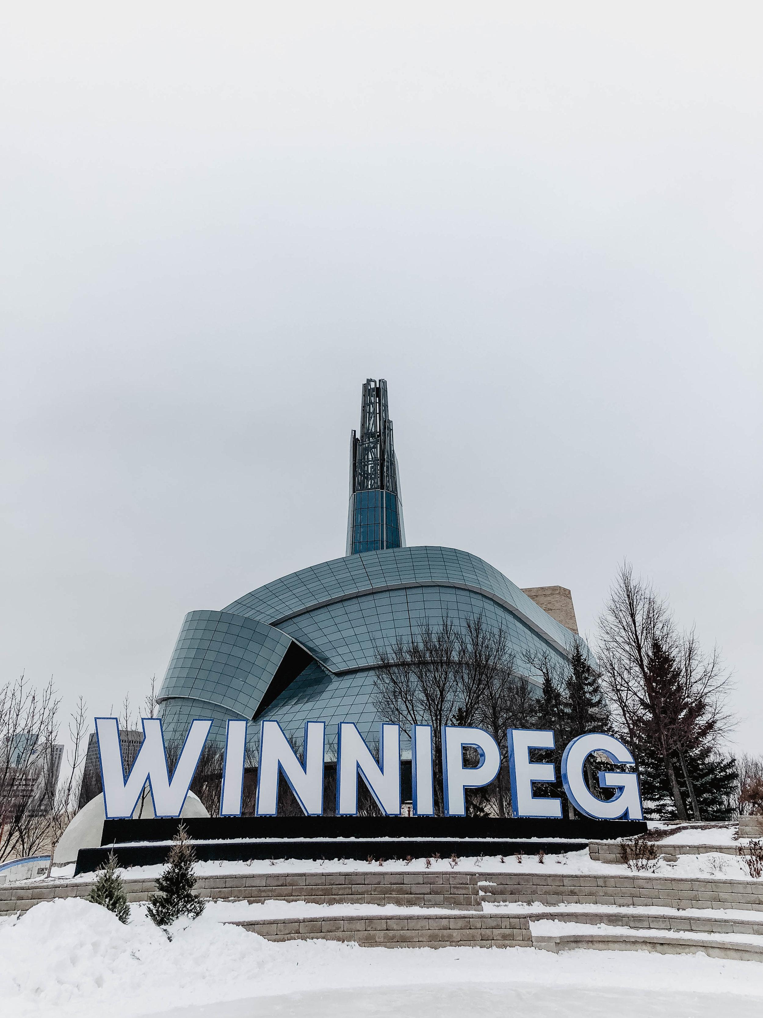 The Forks Winnipeg Sign