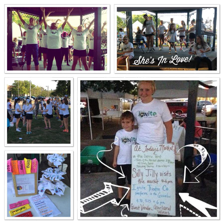 """""""Don't trash where you splash"""" neighborhood clean up; SPARKs mixed service and performance at the Webster Groves Farmers market 9/42 and 10/1 performing songs from """"The Little Mermaid"""" and helping vendors clean up after the performance."""