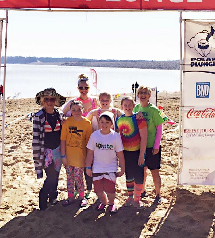 Seven brave Ignite representatives plunged into the 37 degree waters of Carlyle Lake and raised more than $1300 for Special Olympics. Brrr!