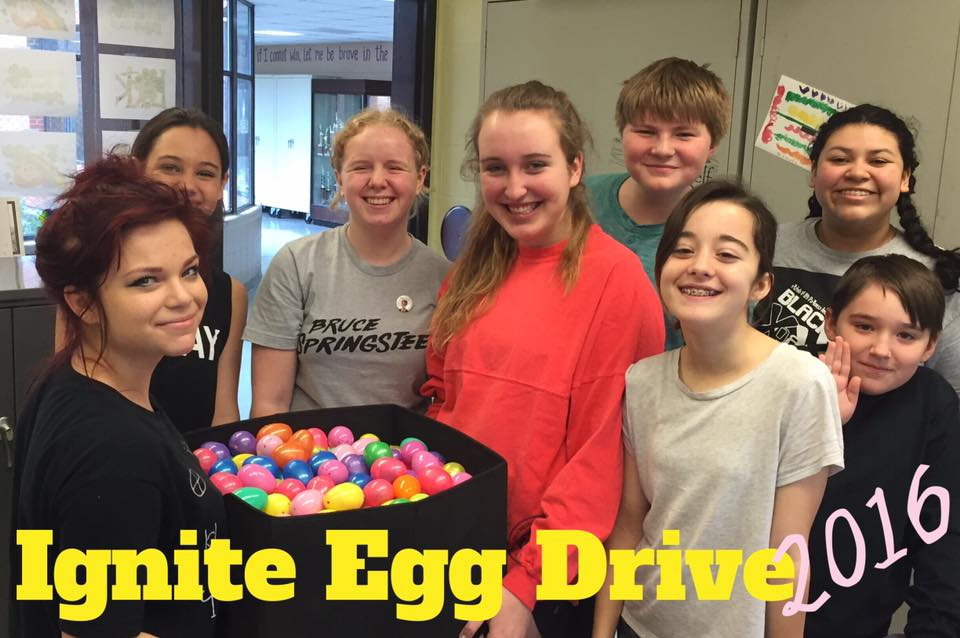 """SPARKS participated in """"Elle's Egg Drive"""" and collected more than 500 Easter Eggs for residents of Epworth Child & Family Services. What an EGG-cellent Easter Egg hunt they will have!"""