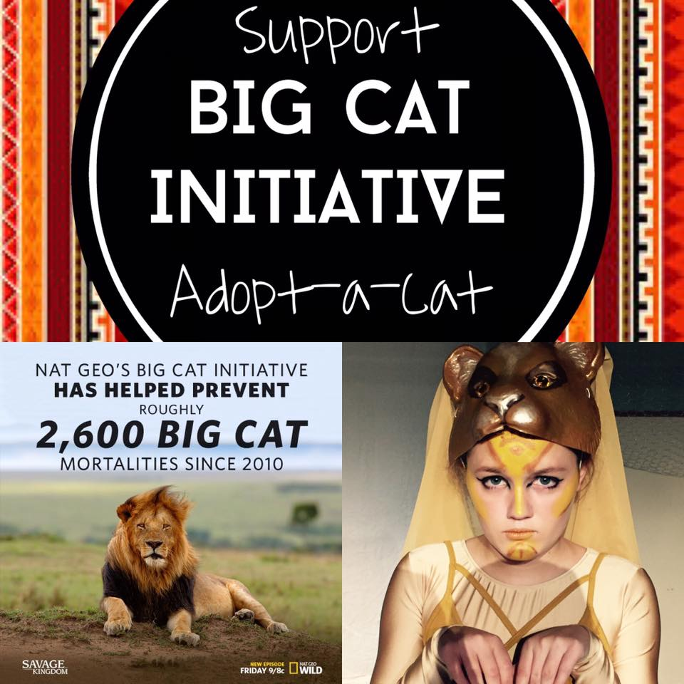 """The Cast of Disney's The Lion King Jr. raised $563 toward saving Big Cats with an """"Adopt a Big Cat Cast member"""""""