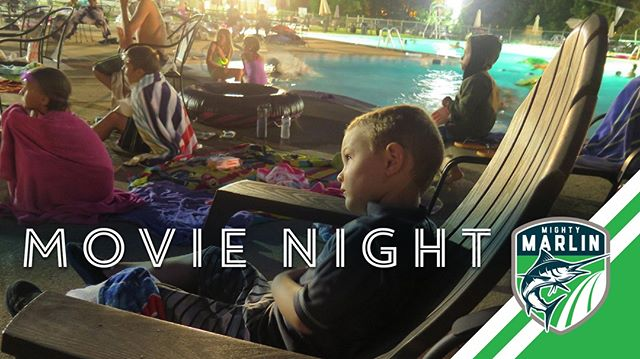 Week 7: 🎬 It's Movie Night, take 2 — and ACTION! 🎥 Friday Night, July 12th: Bring the family out for a flick at the pool. The movie will start as soon as the sun goes down and the party goes until the movie ends.