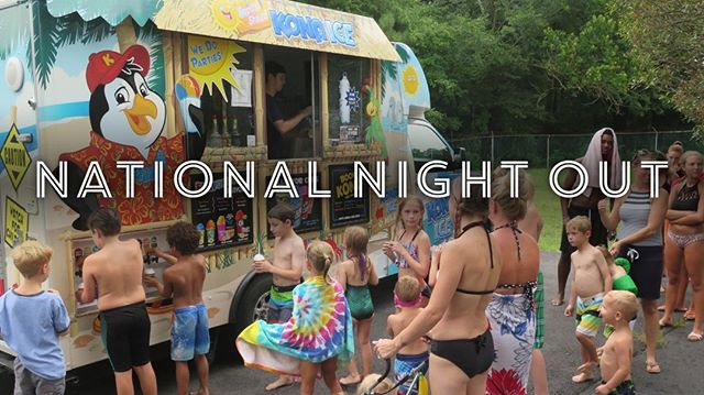 Week 11: 🌜Join us Tuesday for National Night Out!🌛 From 5:45-6:45 the Kona Ice truck will be serving shaved ice compliments of the Smoketree Community Association!