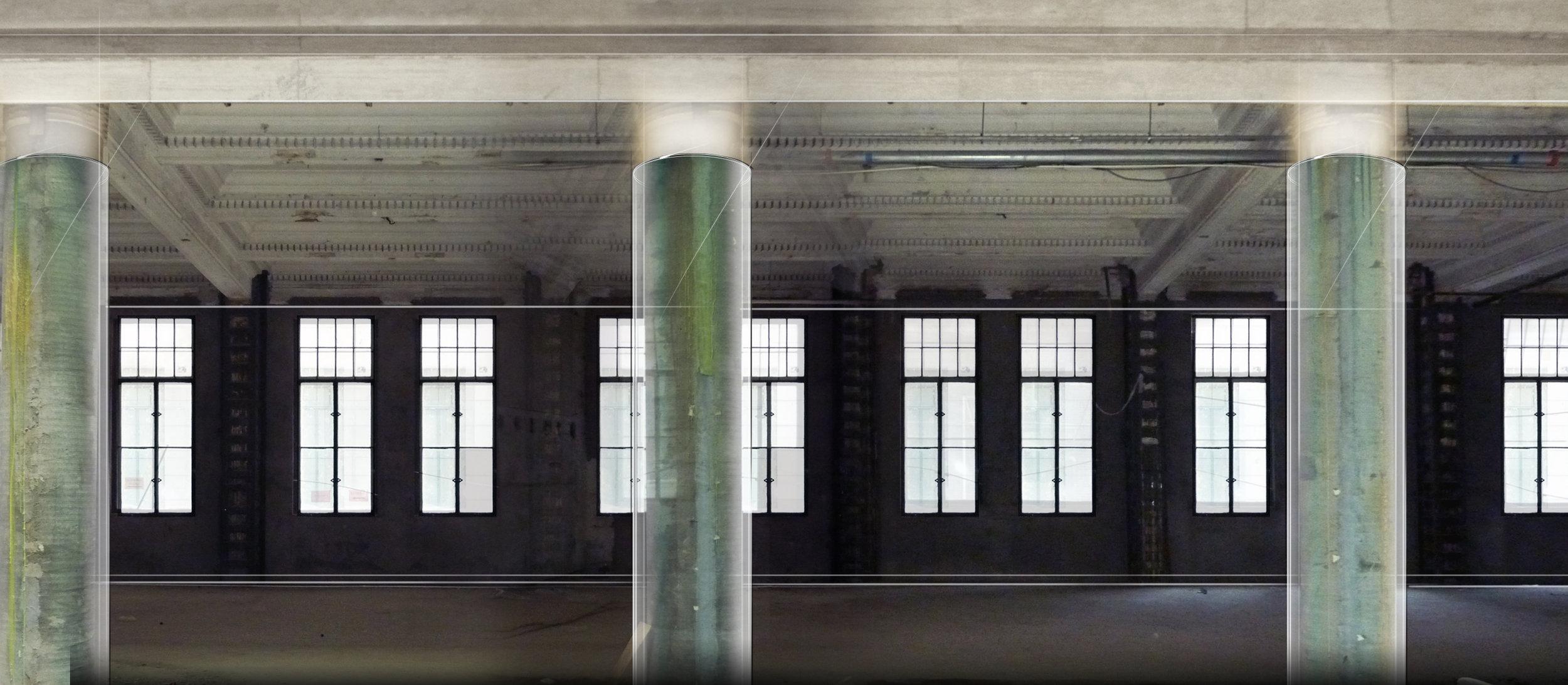 Hallway, glass.