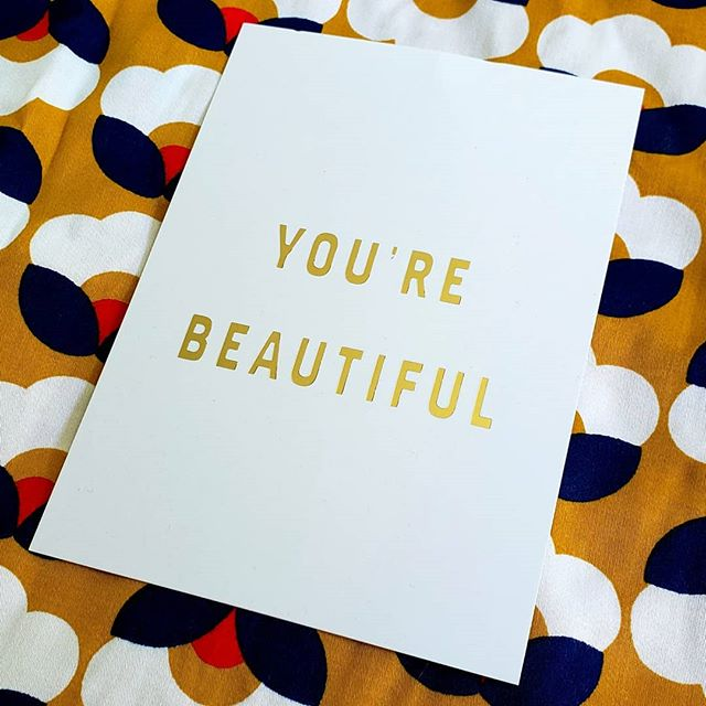 Yep, you! You're beautiful! The shape you are right now, whatever your individual style or quirks, your way of parenting, whether or not you've washed or even brushed your hair today, you're beautiful! Inside and out! . Who else loves receiving bonus postcards like this when they order something from an online shop? It makes the purchase extra special, especially when it comes with clothes made out of this retro fabric!! @boomshankarclothing always uses such unique and fun prints in their clothes, and the fabrics always feel fresh and comfy too. Um, yes, I have ordered from them more than once! Anyhoo, you're beautiful! . .   #mindfulfashion #mindfulliving #mindfullife #consciousfashion #ethicalfashion #minimalwardrobe #livesimply #smalljoys #communityovercompetition #livecolourfully #minimalist #slowfashion #consciousliving #mumfashion #ootd #biglovebiglife #womensstyle #mumstyle #mumlife #boomshankar #australiandesign #onlineshop #youarebeautiful #mum #beautiful #retrofashion #retrofabric #floralfashion #yourebeautiful #sparkjoy
