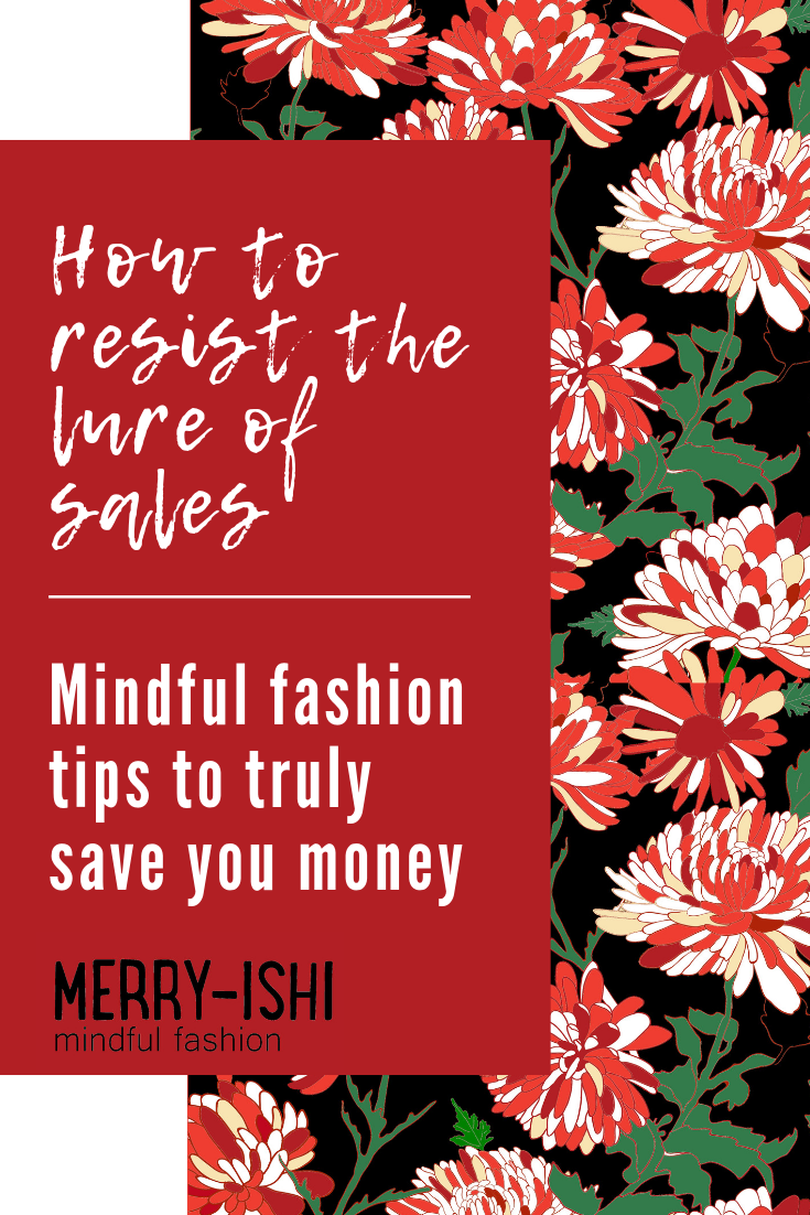 Fashion Pinspiration - Save in your Pinterest boards for those times you need help to resist the lure of the sales.