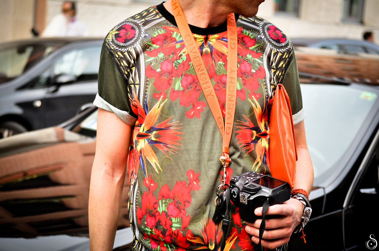 mrtuft :     Givenchy t-shirt @ Prada fashion show in Milan   Photo by Stefano Carloni
