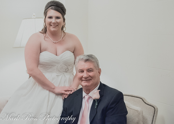 The bride and her handsome father.