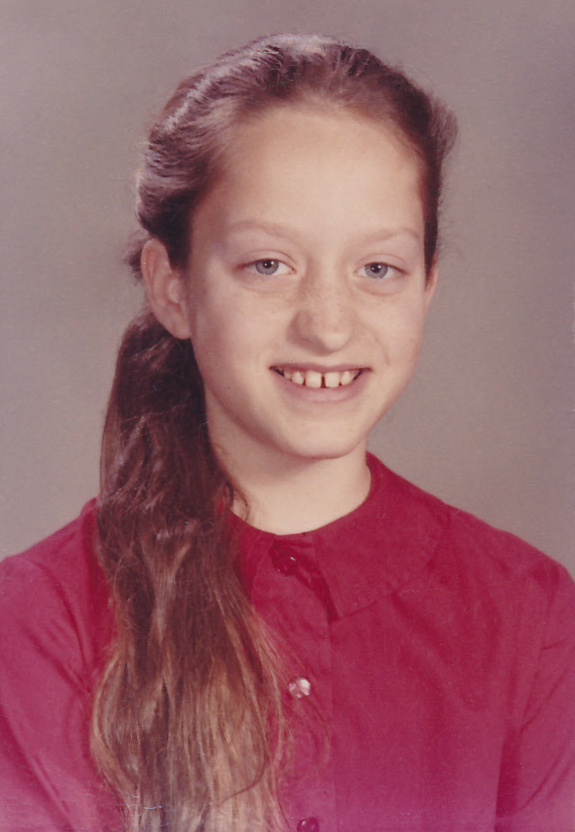 One of Aunt Betty's school photographs.
