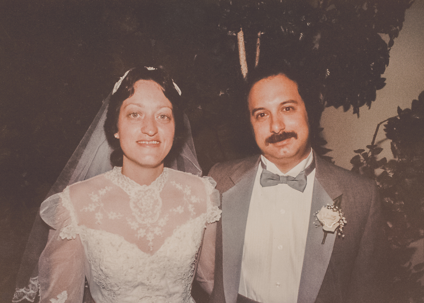 Aunt Bettijean and Uncle Sheldon on their wedding day.