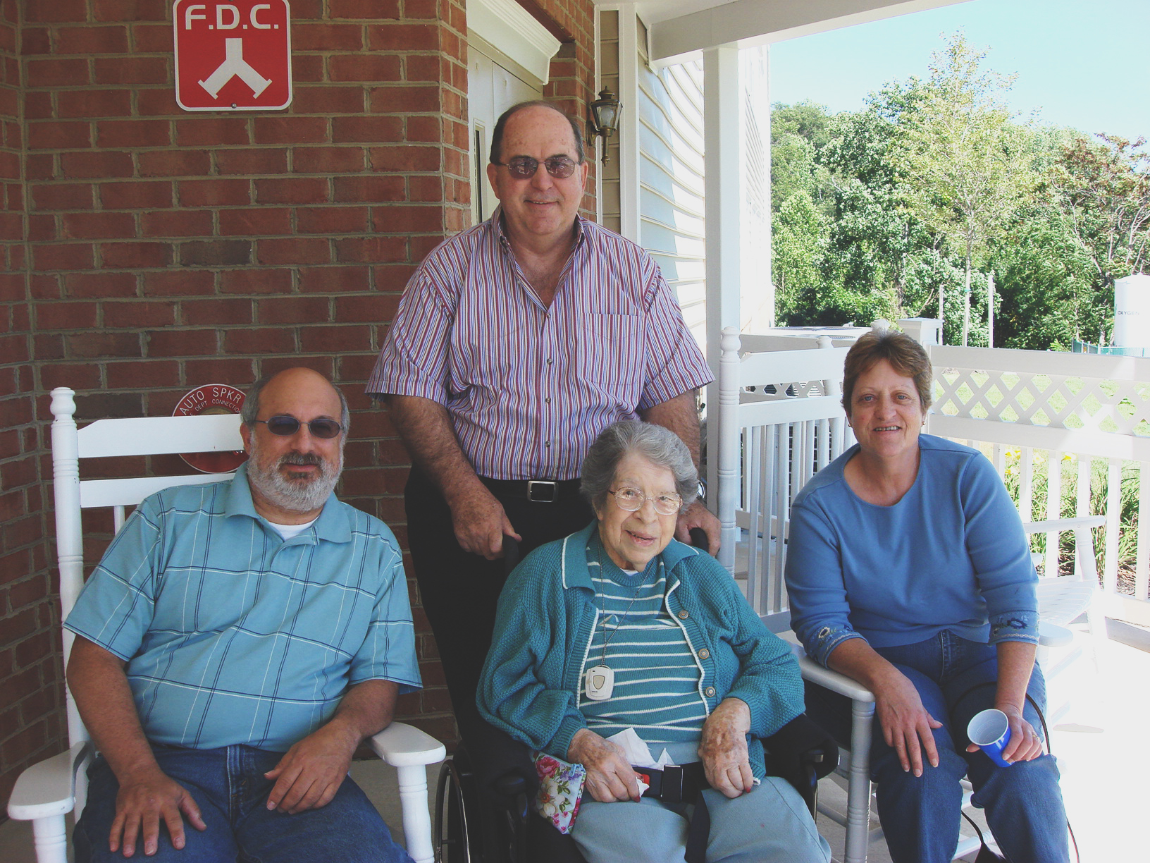 My Aunt (as I remember her) with my Nana, Dad and Uncle.