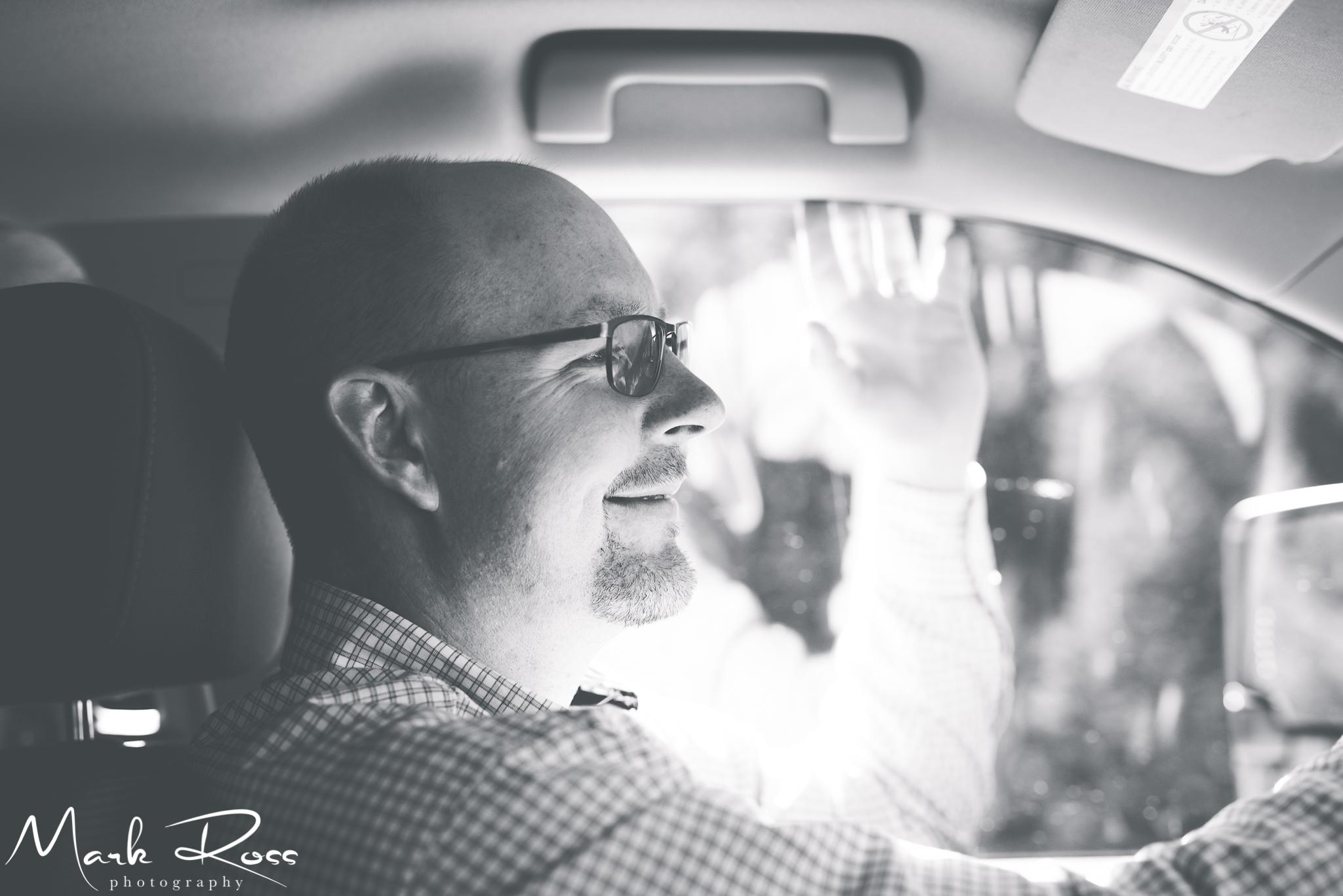 Brett driving. Obviously.