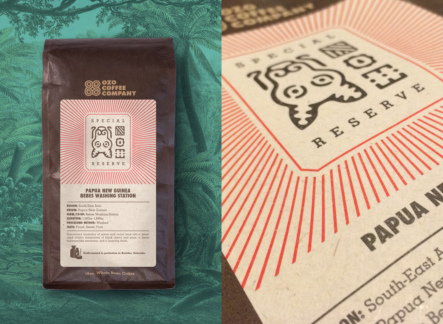 special reserve labels: for coffee not available year round