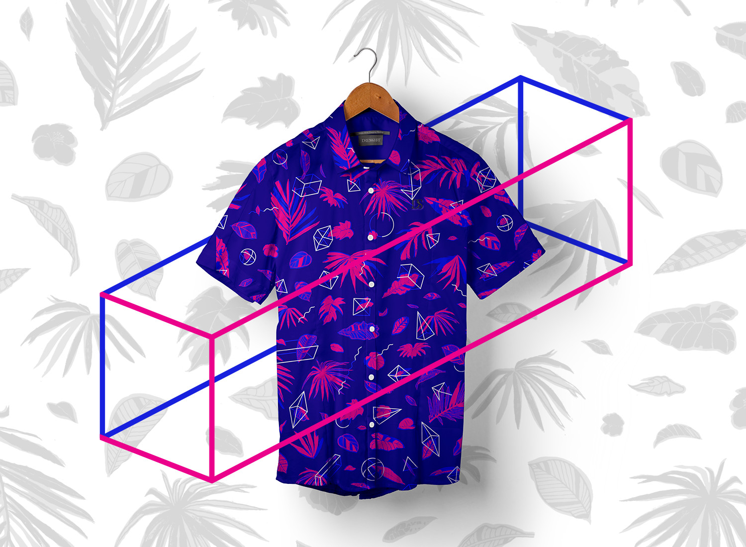 N E O N △ N I G H T color variation: button-down shirt concept submitted to Betabrand
