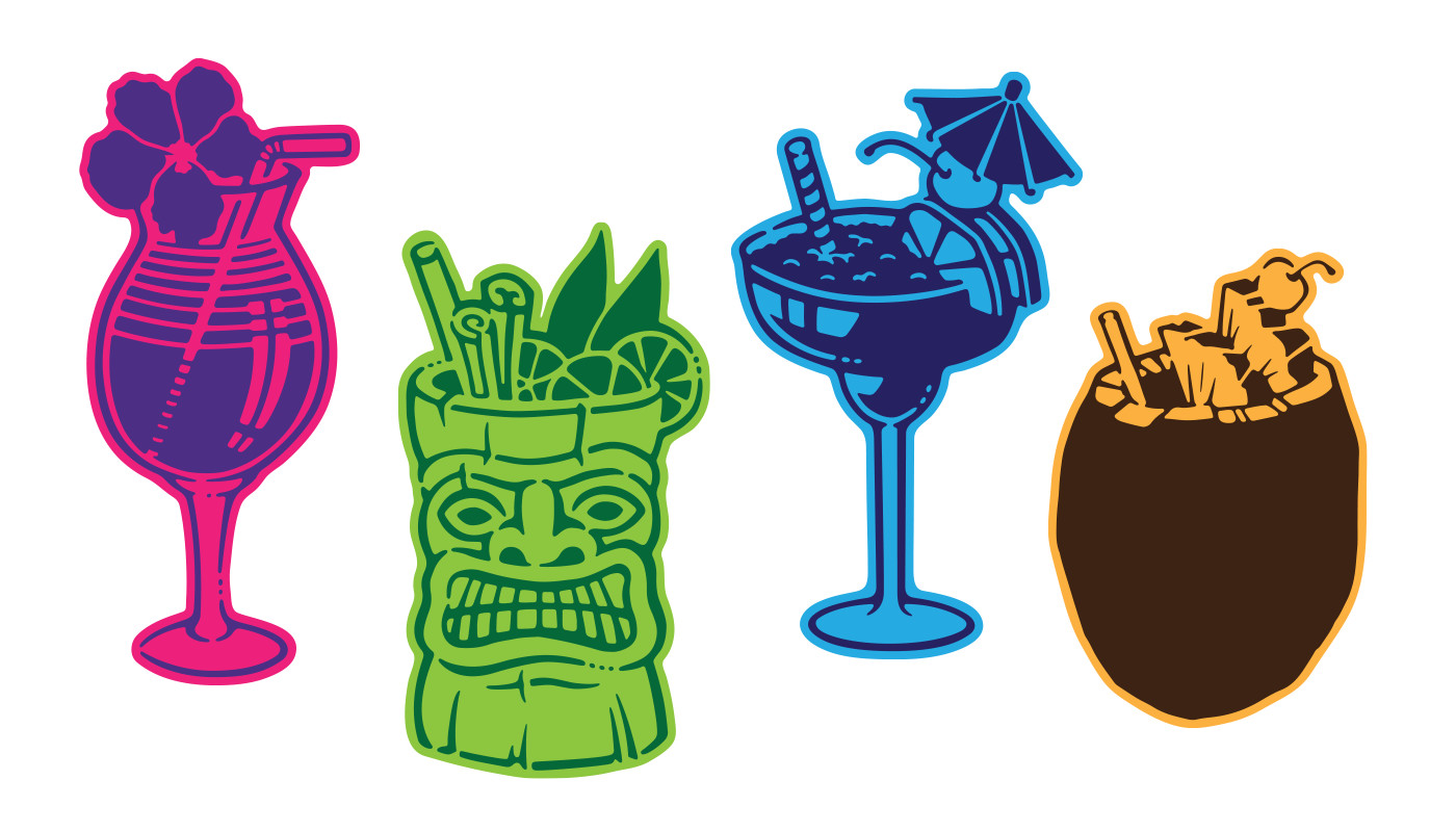 tropical vacation drinks