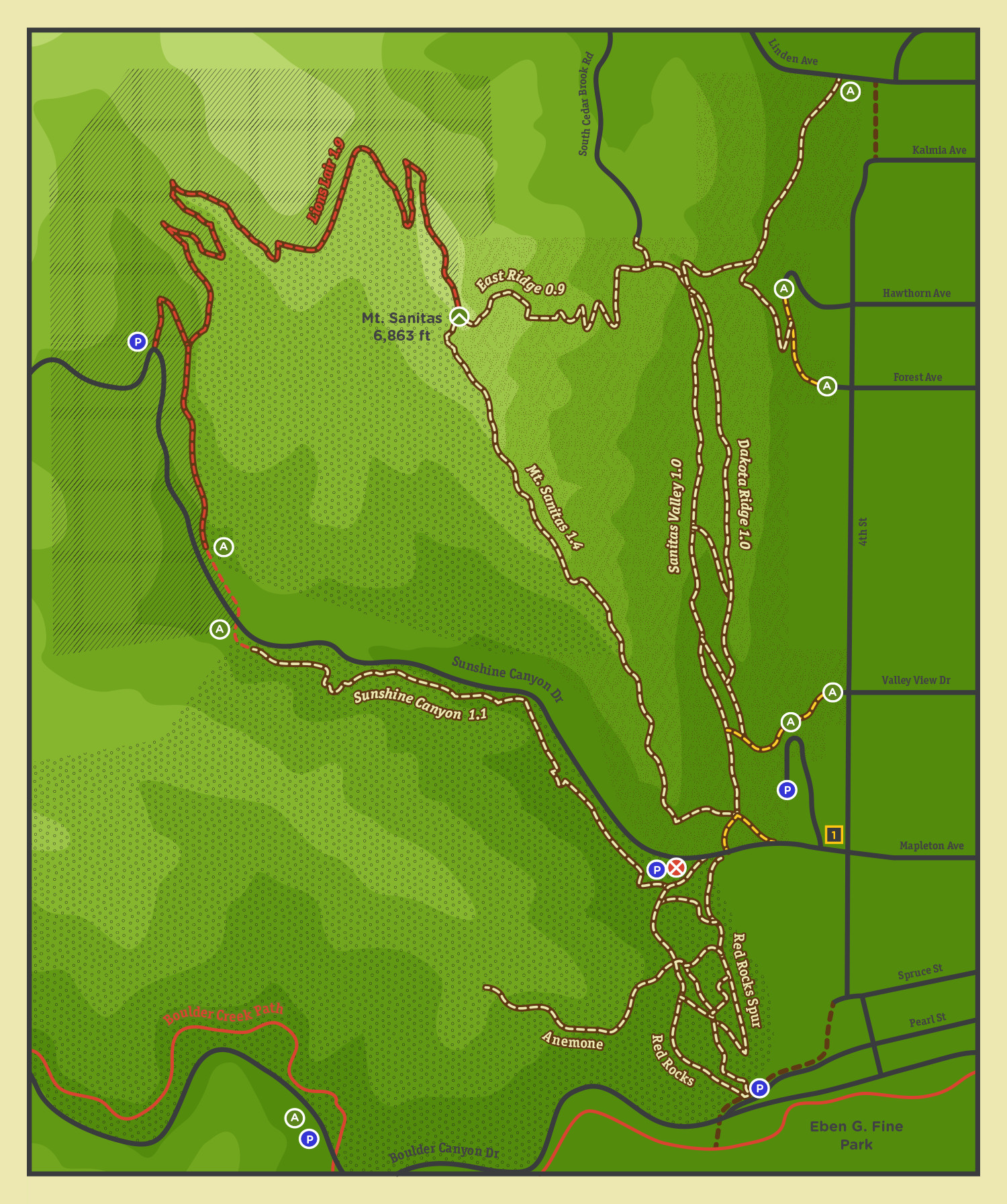 improved map system for Boulder County, CO (proposed)