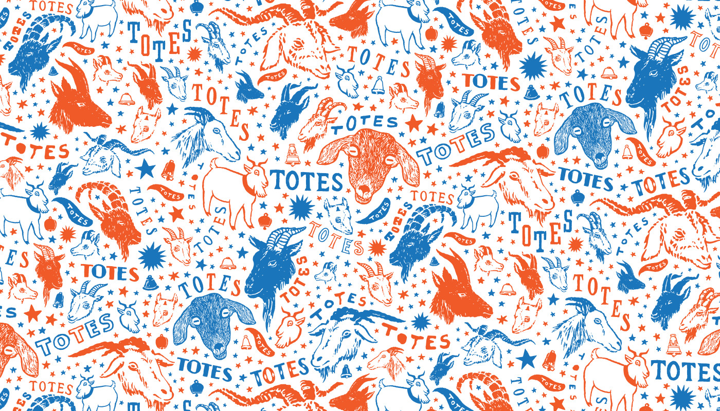 Totes Ma Goats — buy fabric from  spoonflower  or home goods from  society6