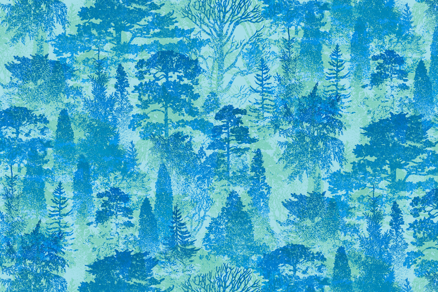 Forest Trees — purchase on  fabric  or  home goods