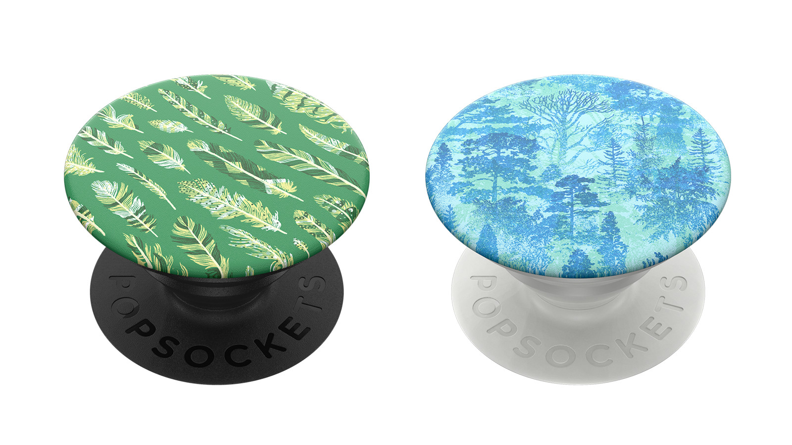 Feathers  and  Forest Trees  available on Popsockets!