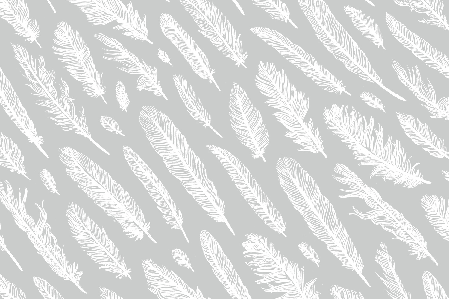 Feathers — available as  fabric