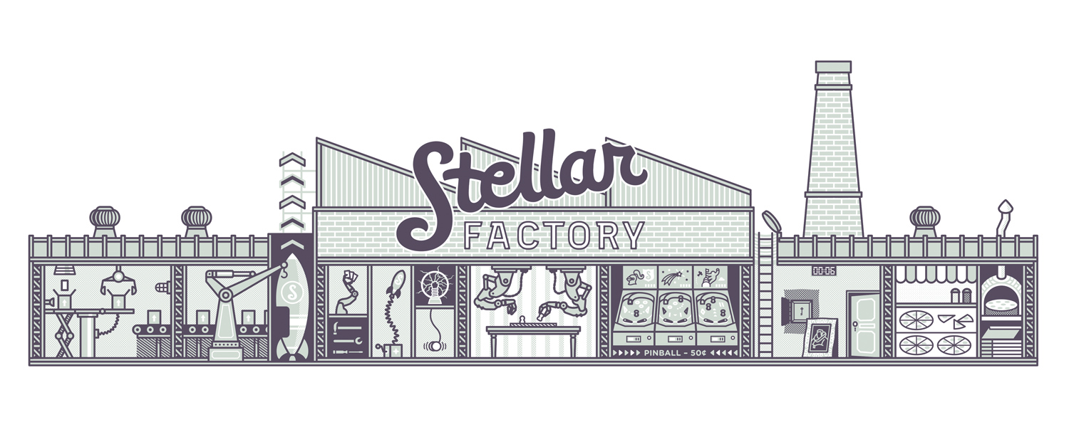 Stellar Factory cutaway view to reveal business operations
