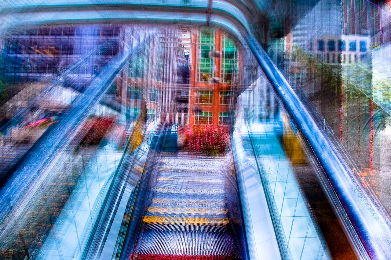 One Second on an Escalator