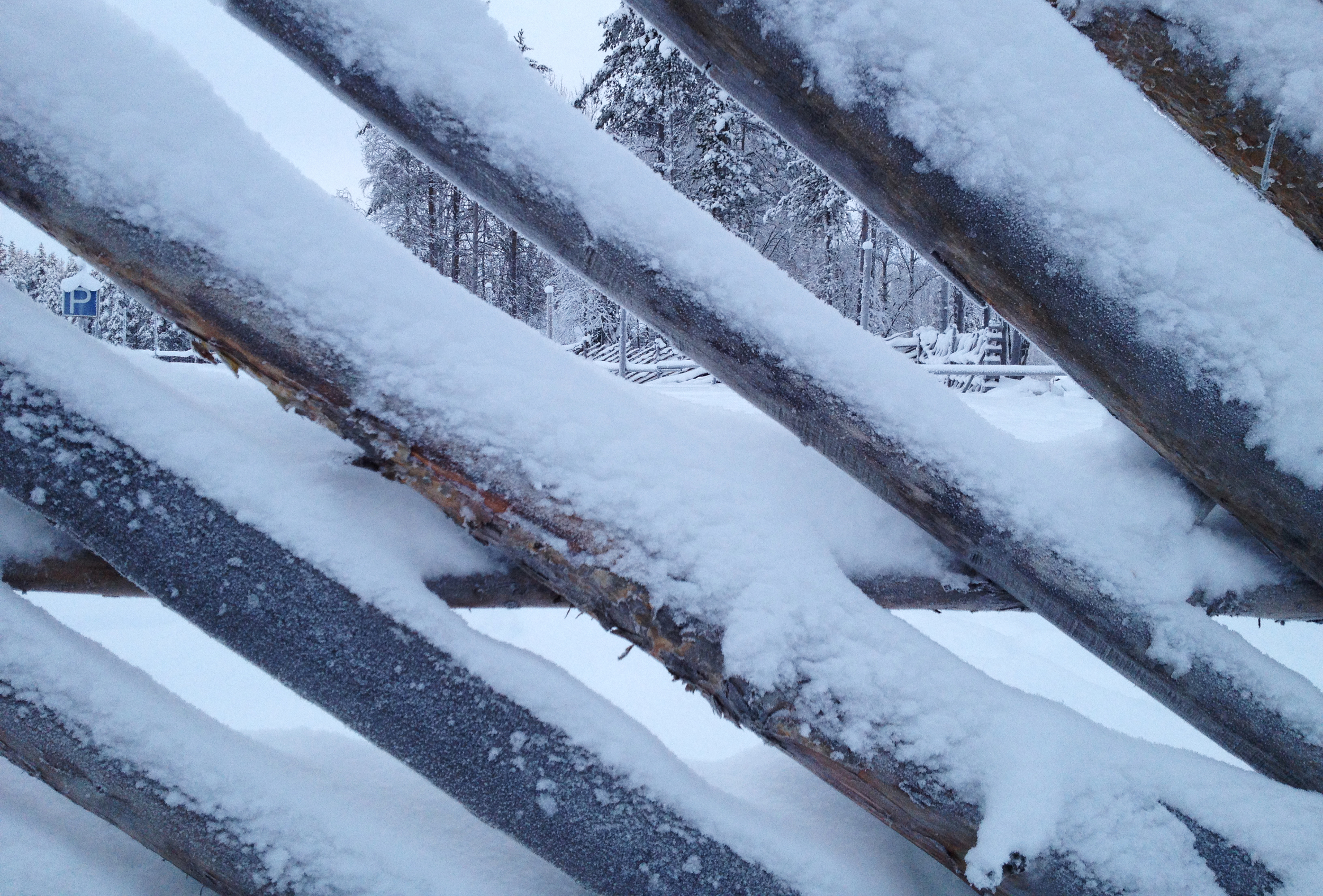 Arctic Fence Abstract