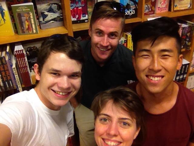 Traversing the amazing Book People bookstore with Praxis friends in Austin, TX.