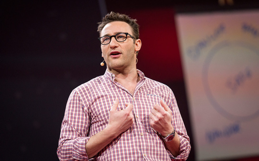 "Simon Sinek at his TED Talk, ""Start with Why"""