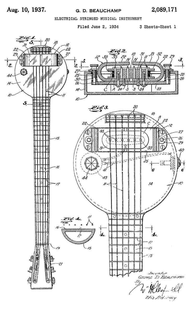 Patent App for Rickenbacker Frying Pan
