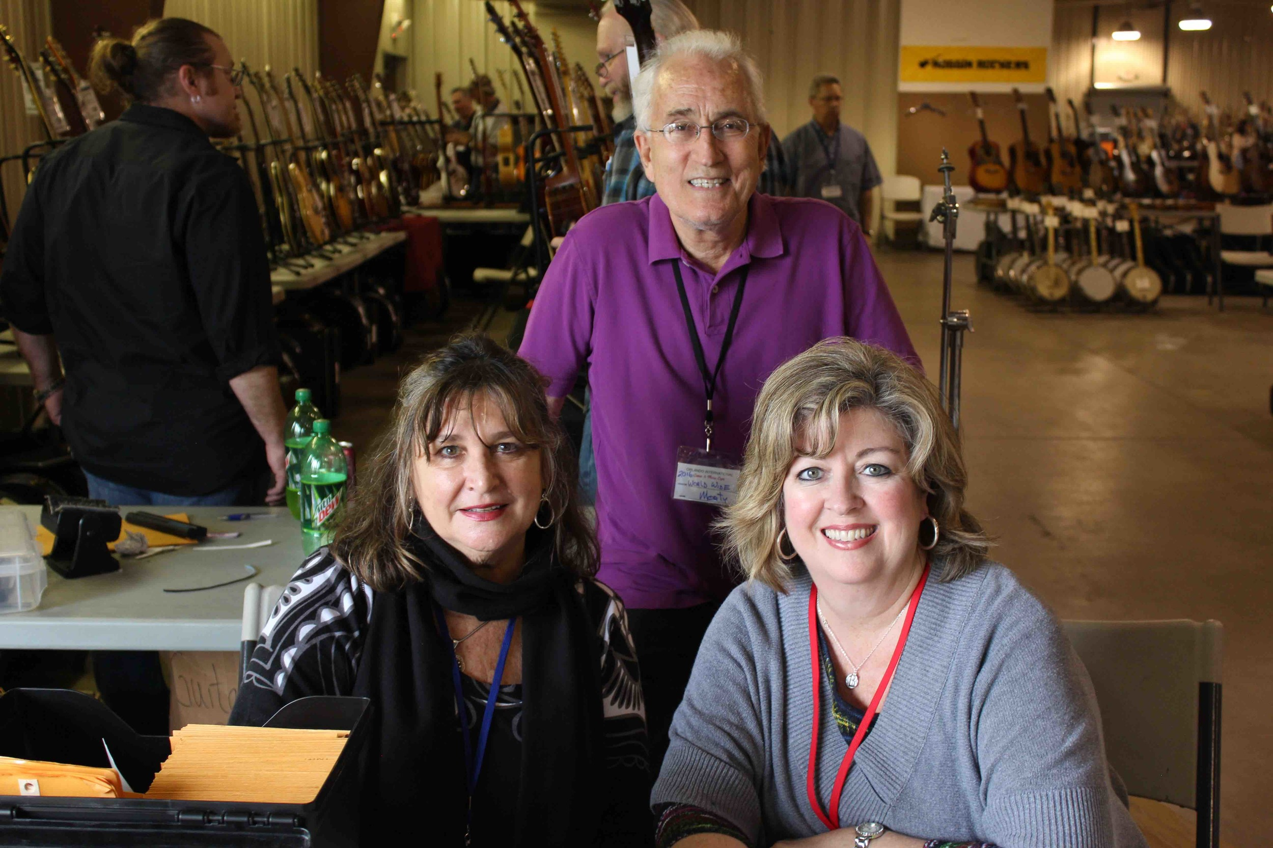 Morty beckman and his dedicated team, Diane Volta (l) and Becky Ferguson (R)