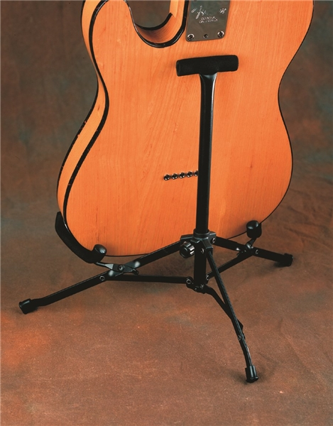 Unlike hanging stands or tubular stands, the fender mini guitar stand makes it easy to just grab your guitar off the stand.