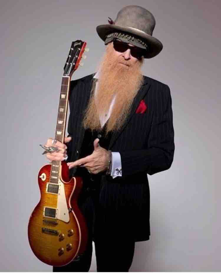 "Billy Gibbons with his orginal '59 Les Paul ""Pearly Gates"""