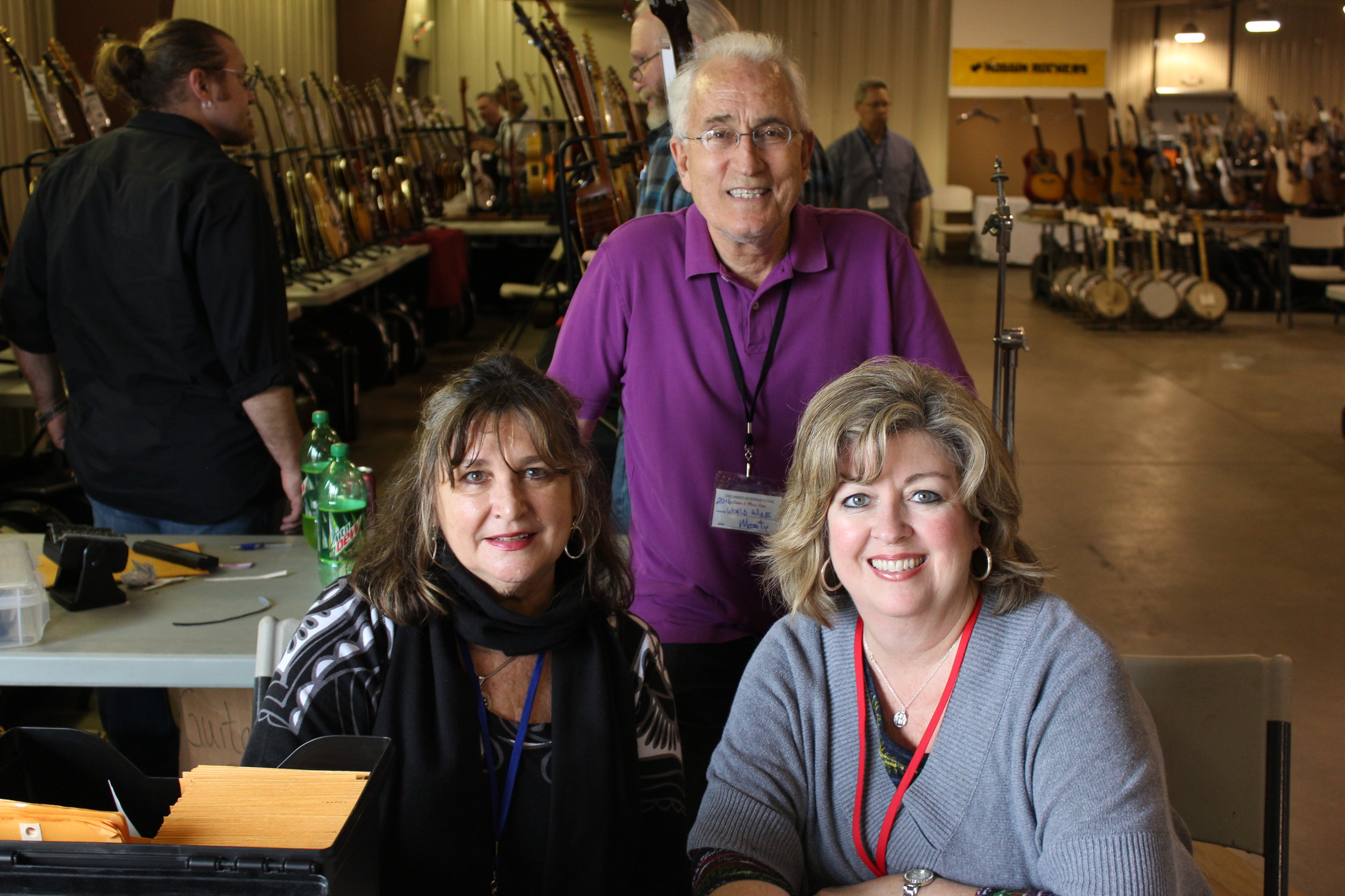 Morty Beckman, Orlando Guitar Show Producer & His Beautiful Team