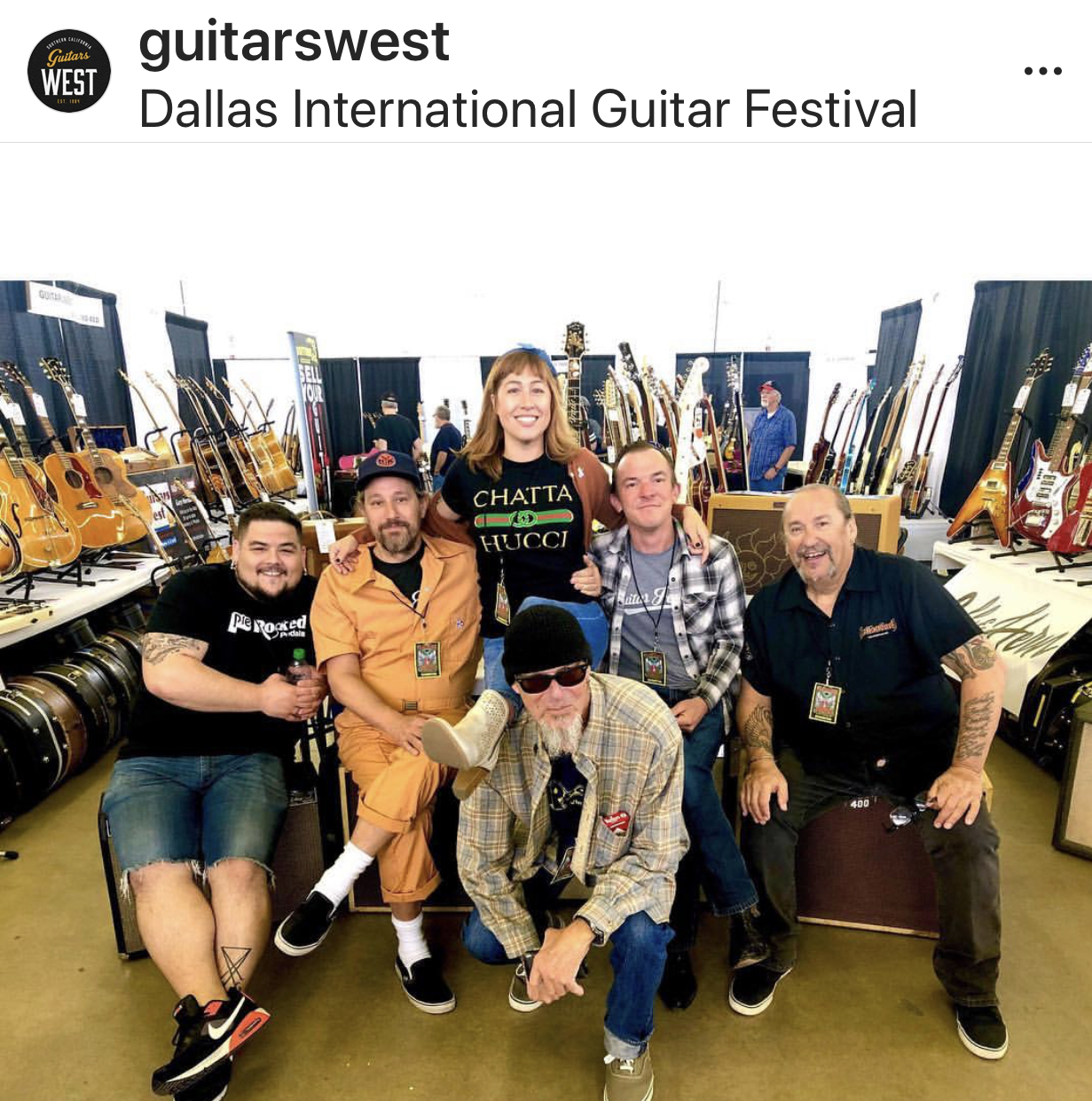 Big Hern, Mercedes and the family at Guitars West