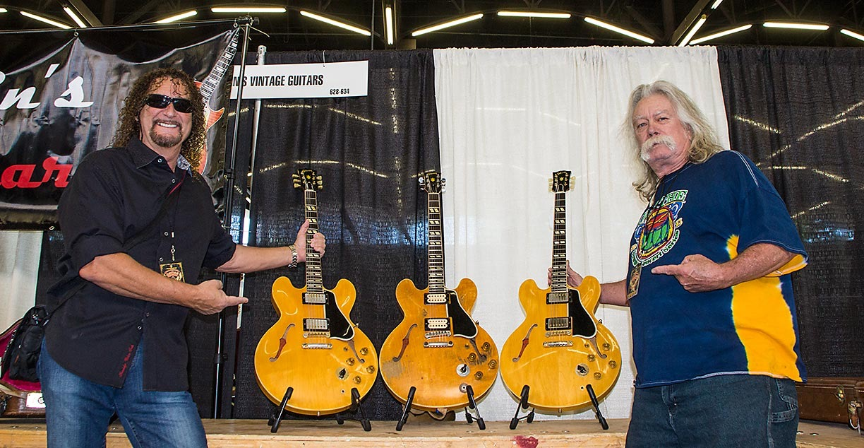 Drew Berlin with the Fret King, Willie Smith, and three beautiful '59s!