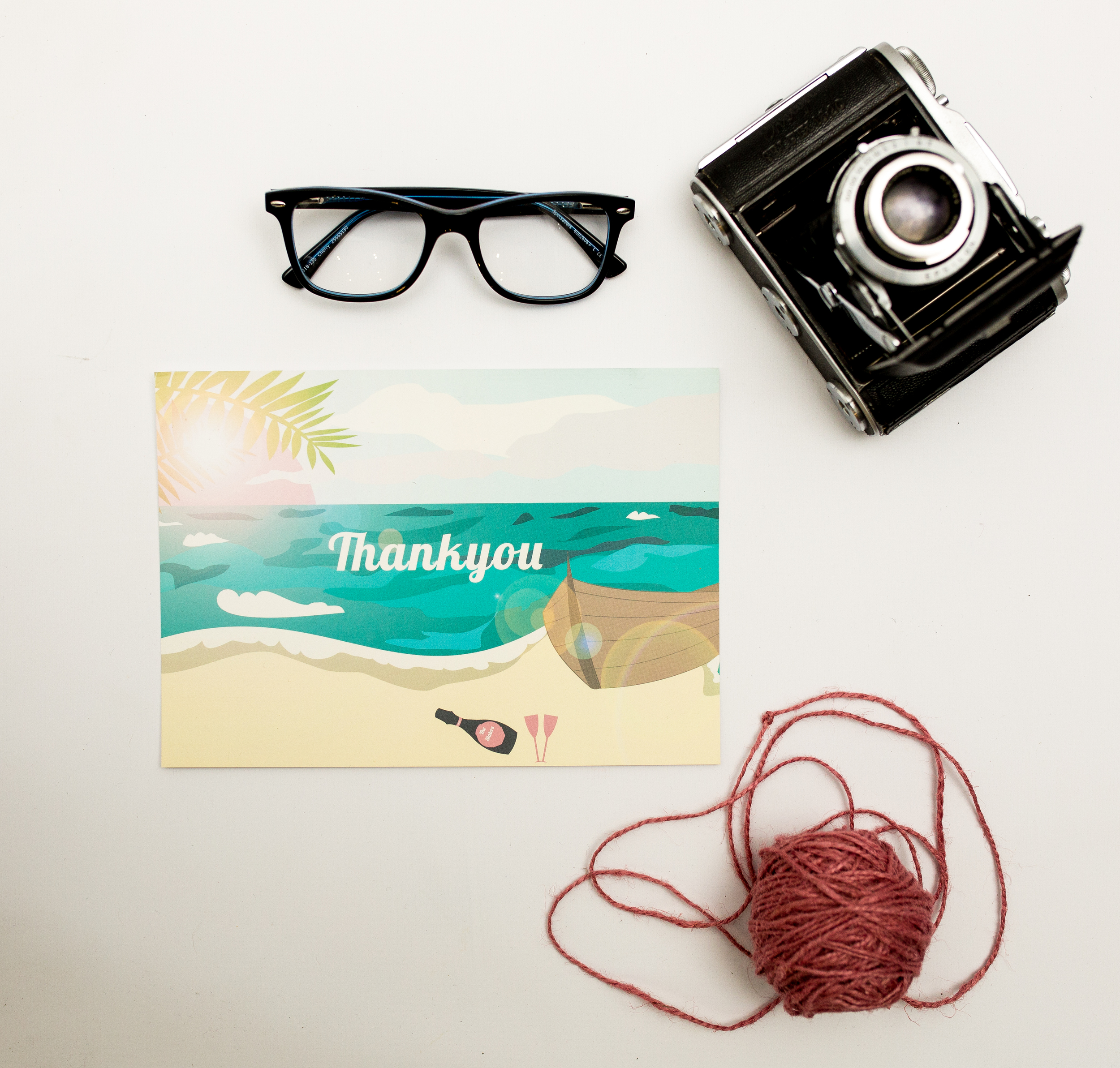 Destination Weddings Post Card Thank You Front