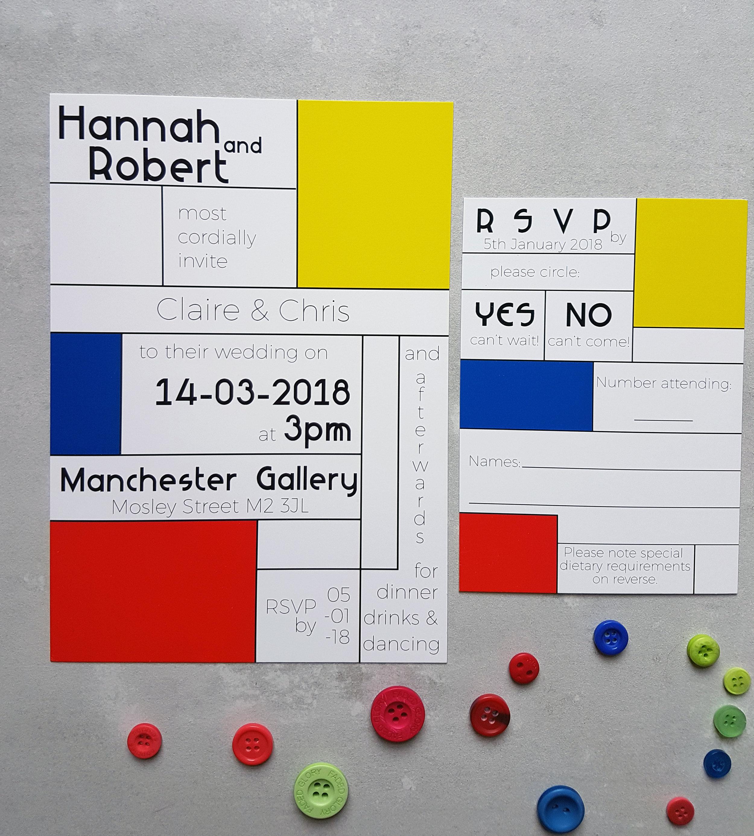 Classic Mondrian Invitation | RSVP