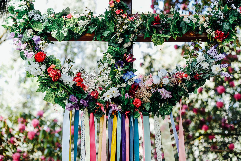 Adelaide hills garland wedding