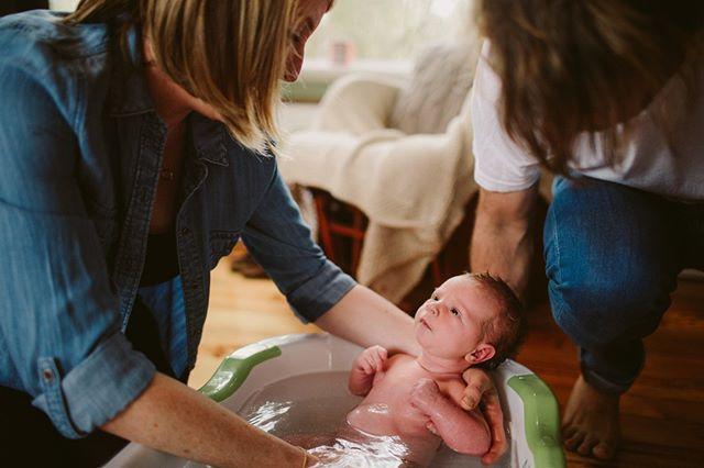 Evie's first bath!  #adelaidemums #