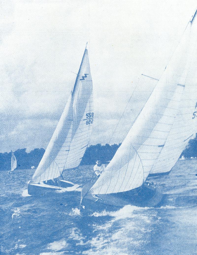 ....Lightning boats in the magazine cover of Frisk Bris 1948..Lightning-veneitä Frisk Bris -lehden kannessa vuonna 1948....