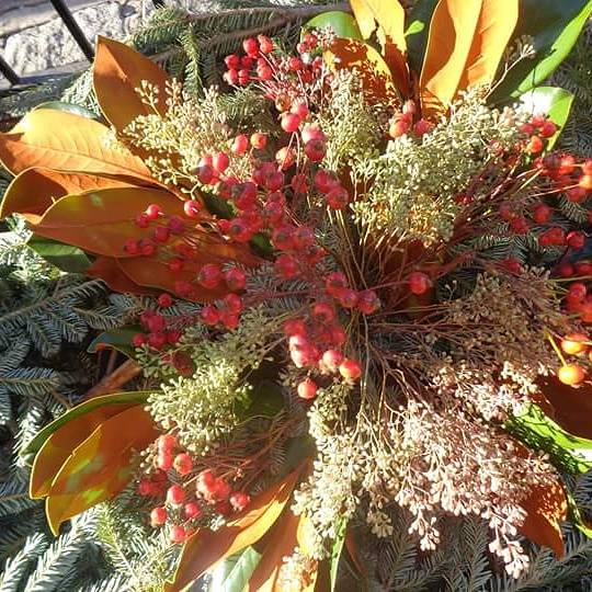 winter landscape design, winter garden decorations, winter decorations, christmas winter design, nyc christmas plantings