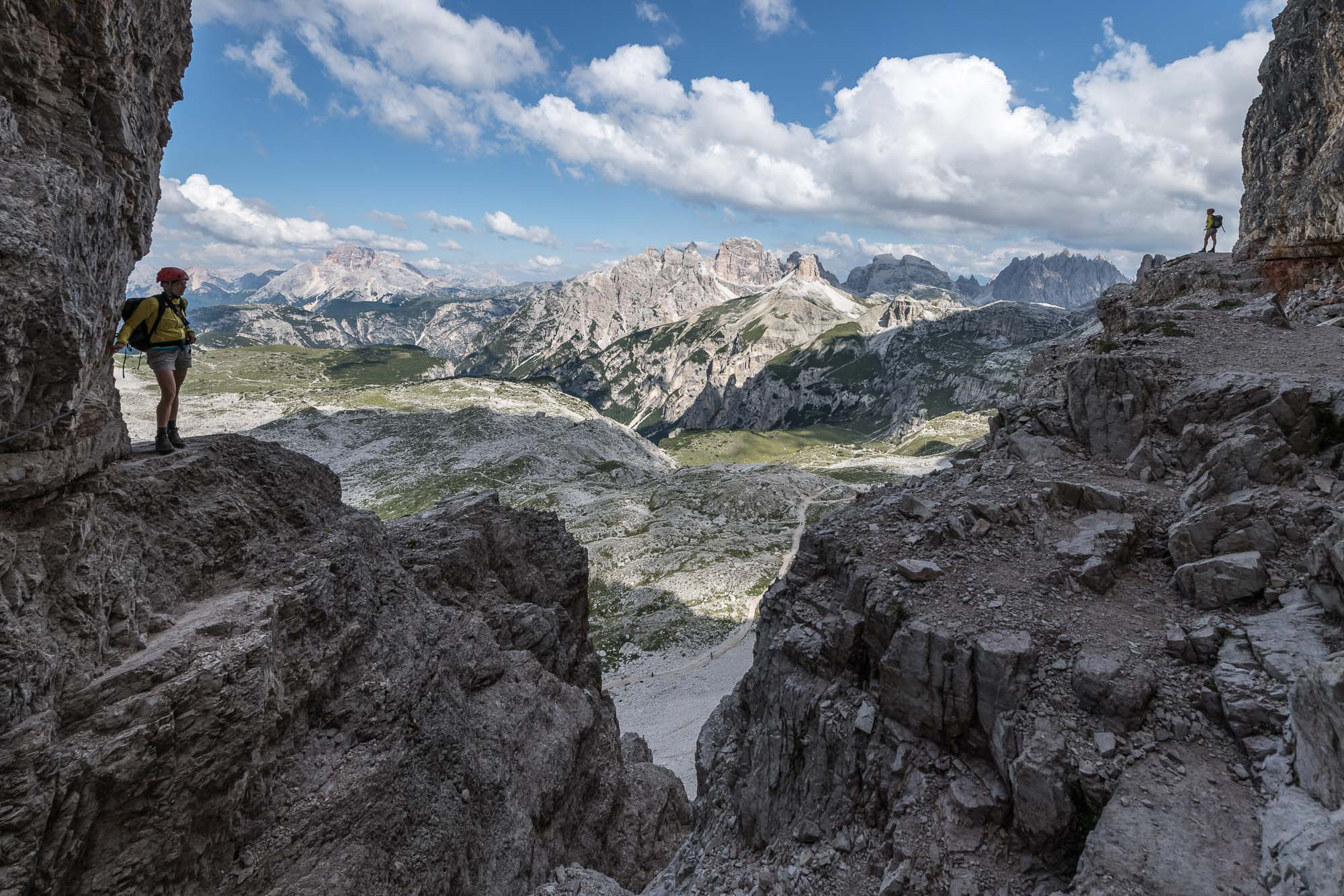 Panorama verso le cime del gruppo dei Tre Scarperi _ PHOTO  © GIUSEPPE GHEDINA