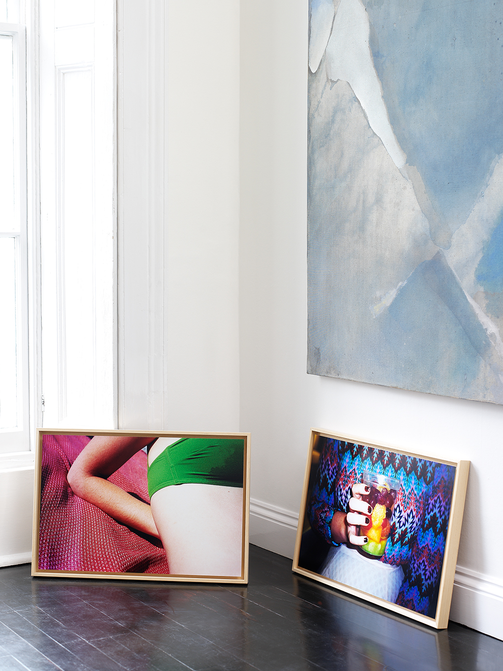 Installation view from  Art Rooms I | The Inaugural Edition , showing two of Marguerite's works from the series  Plastic Colors . (April 2016)