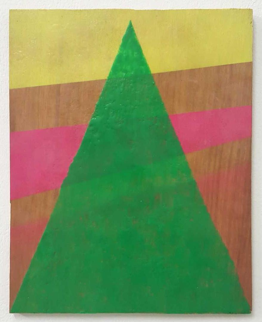 Untitled (Blinky Palermo series) , 2014   encaustic on plywood  27 x 21 cm  £800  [Ref. GK3]